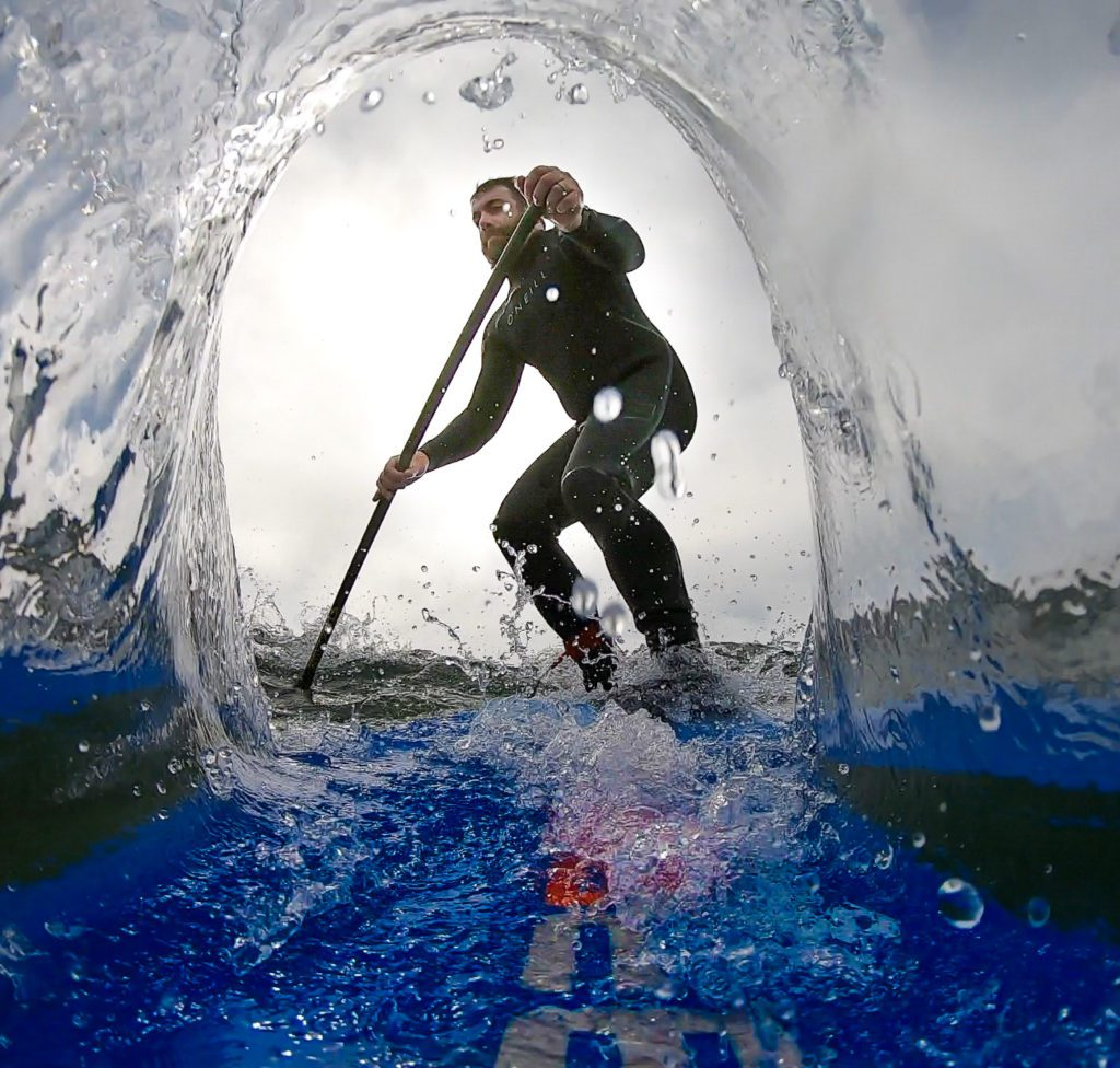 Ivan inside a wave